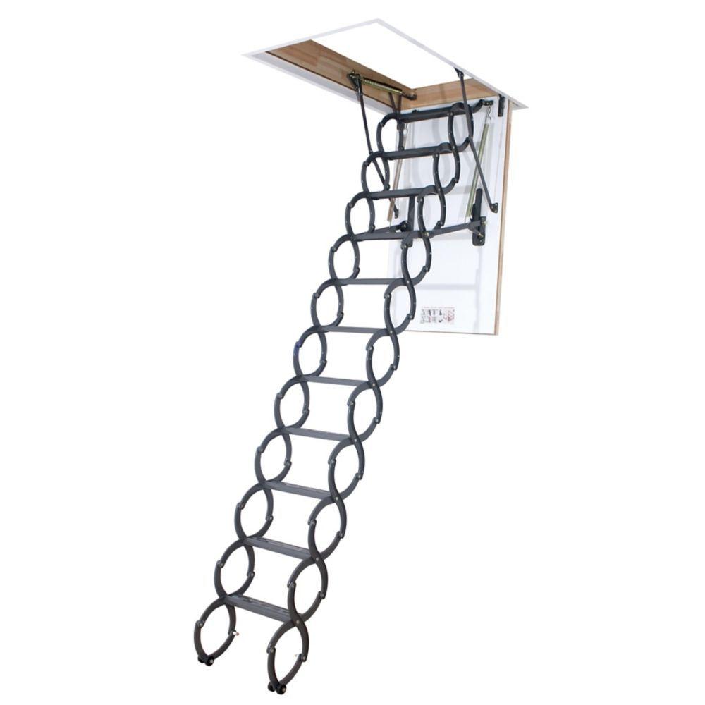 Attic Ladder Scissor Insulated Lst 27x31 300 Lbs 9 Ft 6 In Attic Ladder Attic Renovation Attic Remodel