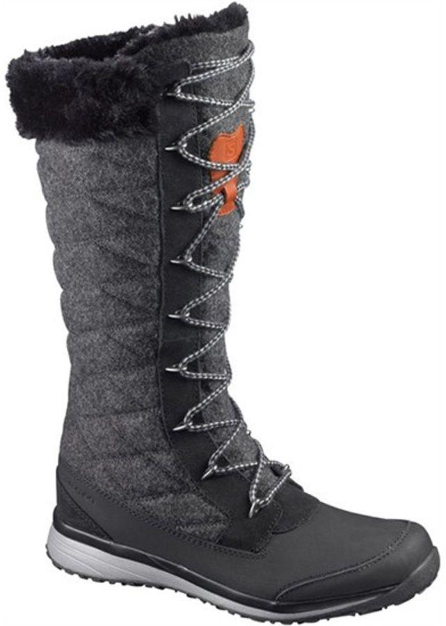 Salomon Hime High Women's Snow Boots, UK 6, Black/Asphalt