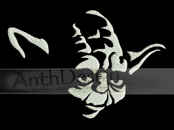 Yoda From Star Wars Machine Embroidery Design 9 Sizes