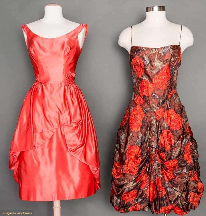 Two Silk Cocktail Dresses, 1950s, Augusta Auctions, April 8, 2015 ...