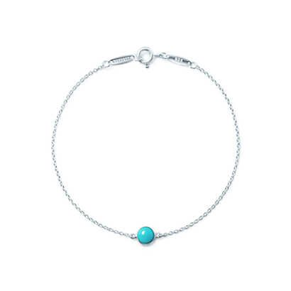 Elsa Peretti® Color by the Yard bracelet in sterling silver with turquoise. | Tiffany & Co.