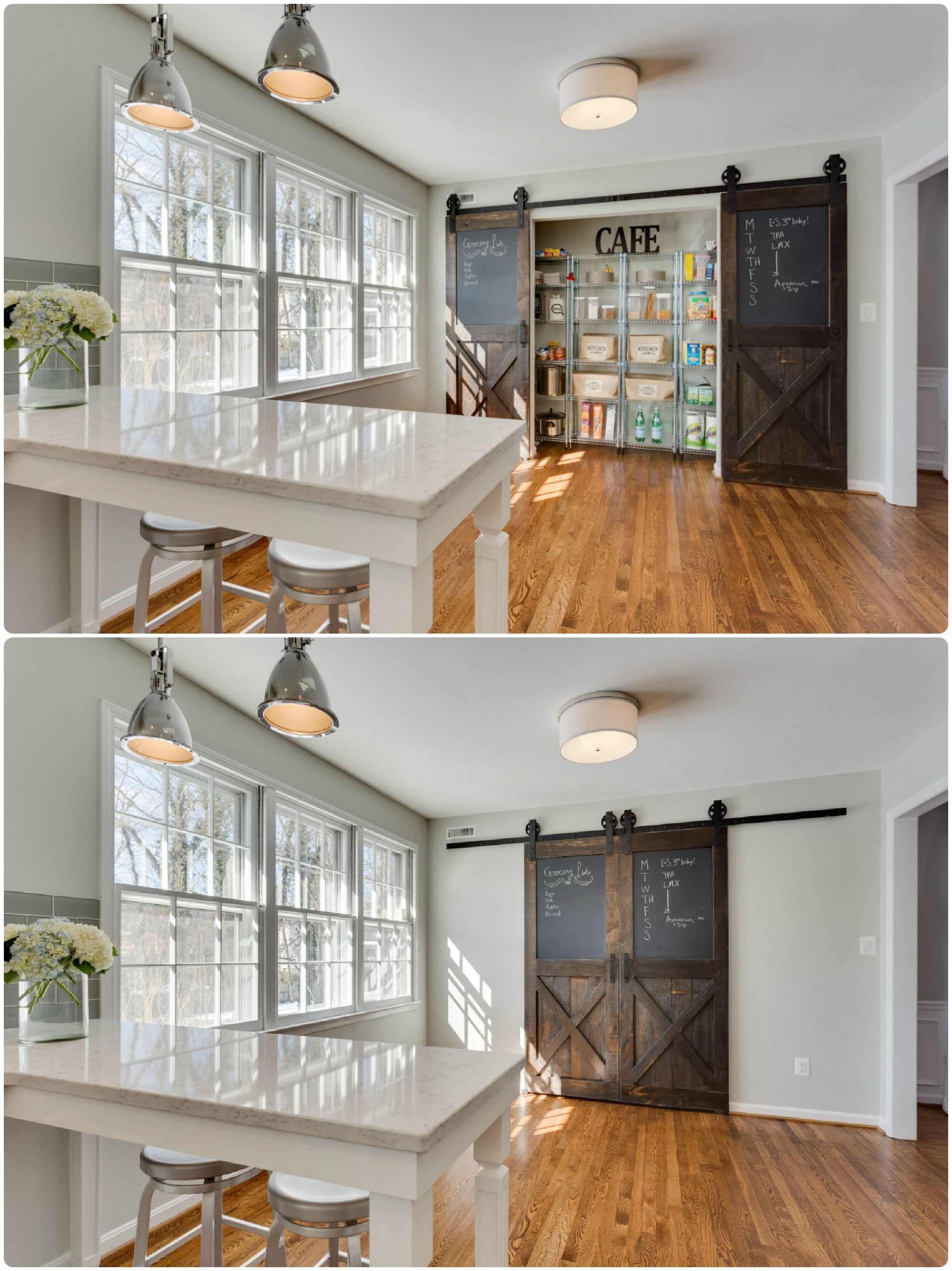 Pantry With Sliding Barn Doors The Ransom Company Kitchens