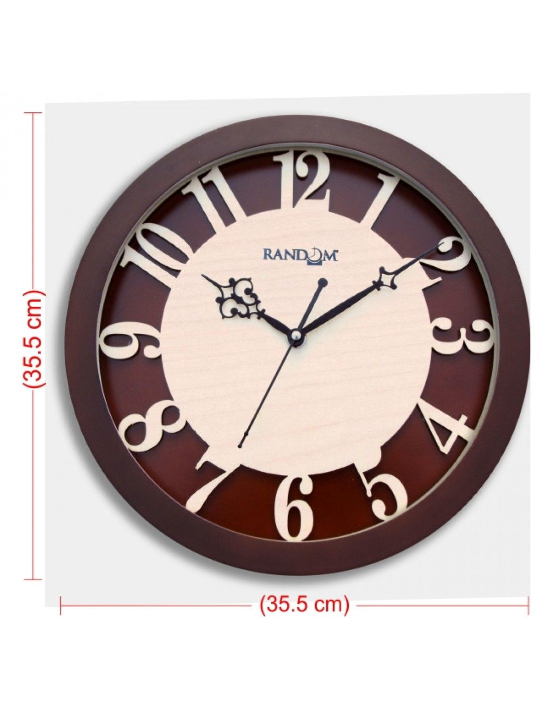 Carvy numerals glass covered analog wall clock buy online the carvy numerals glass covered analog wall clock buy online the beauty of wooden polished amipublicfo Image collections