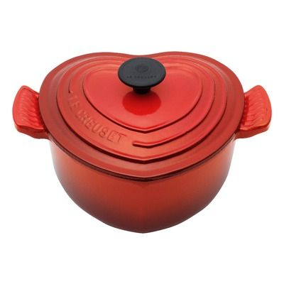 Le Creuset Enameled Cast Iron 2-Qt. Heart Casserole. Oh my I LOVE this pot! This would be an awesome gift =) or a great way to deliver a meal to someone or bring to a fellowship dinner.