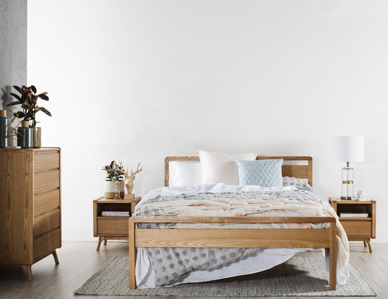 Denmark Bed Frame in 2020 Scandi bedroom, Timber bed