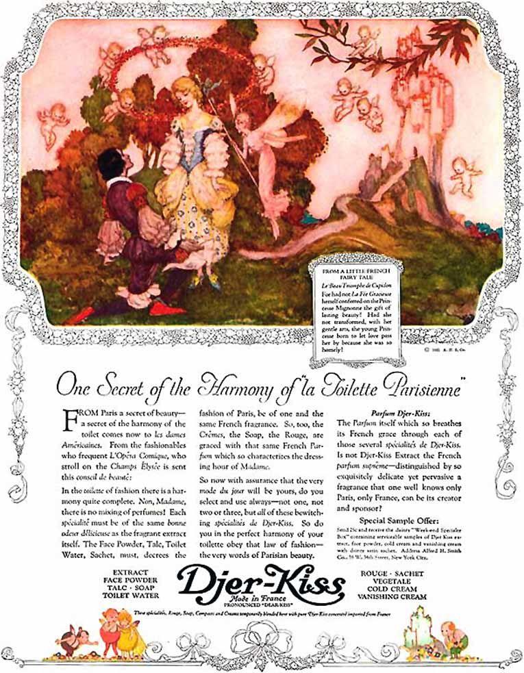 Djer-Kiss ad by Willy Pogány (1921)