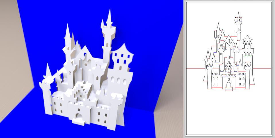 Newsgroups Povray Binaries Images Some More Kirigami Kirigami Templates Kirigami Pop Up Card Templates