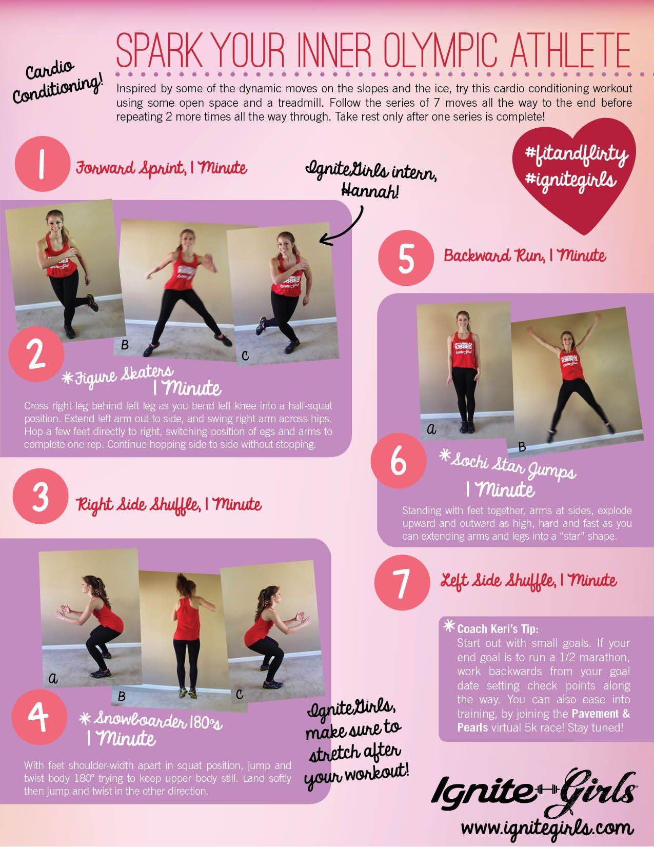 """A cardio conditioning workout inspired by the Olympics.. the """"Spark Your Inner Olympic Athlete"""" printable! 