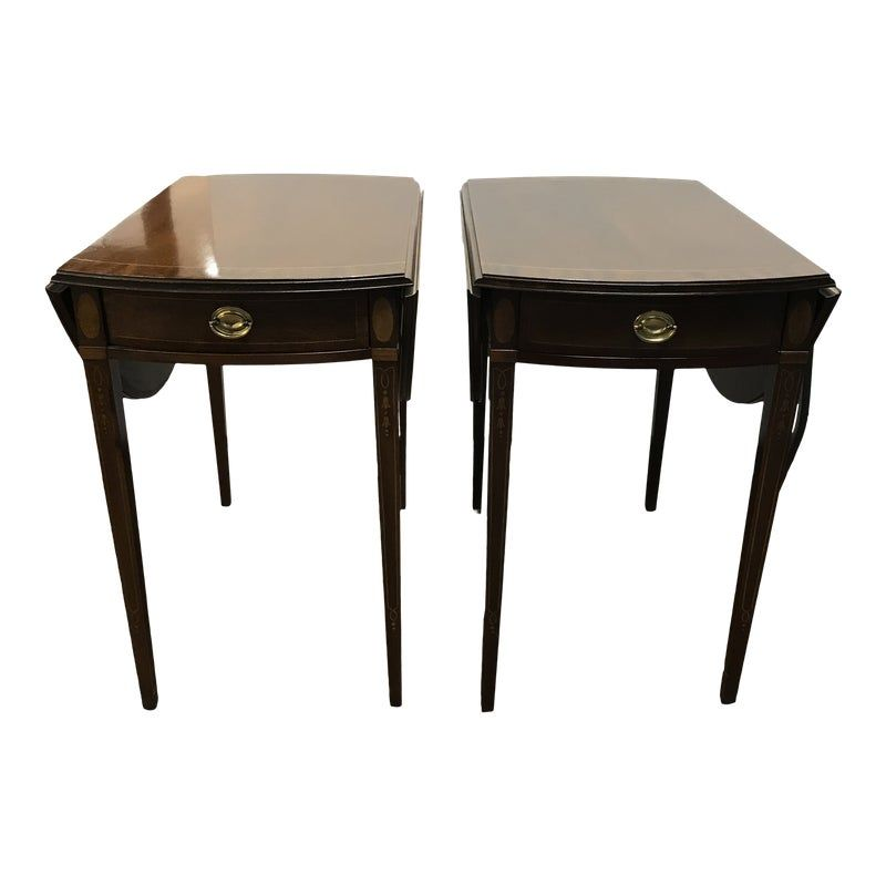 Traditional Councill Craftsman Drop Leaf Side Tables A Pair