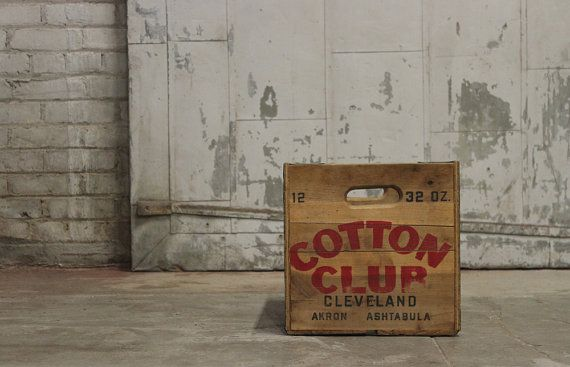 Vintage Wooden Cotton Club Soda Crate