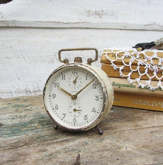 Antique German alarm clock Junghans, Vintage alarm clock ...