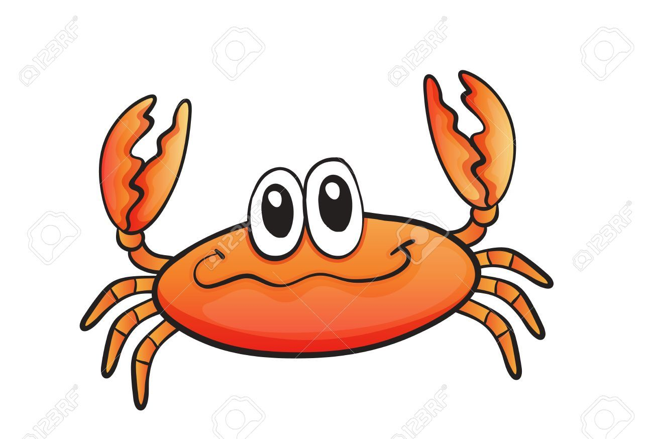free download orange crab clipart for your creation  [ 1300 x 874 Pixel ]