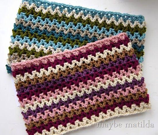 Quick Striped V Stitch Cowl Free Crochet Pattern Free Pattern