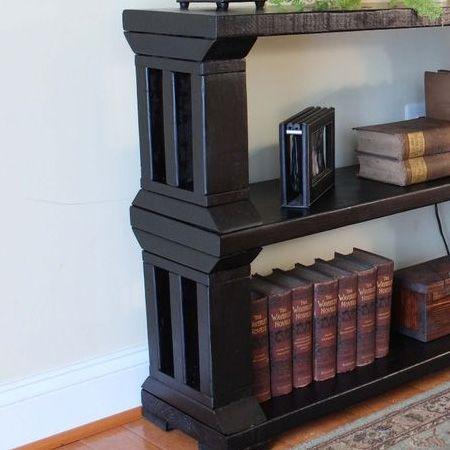 Woodoc Ebony Gel Stain Pine Or Reclaimed Wood Bookshelf