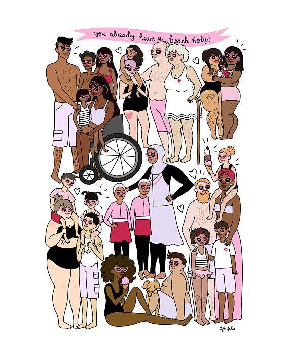 Beach Bodies Digital Download #BeautyStandards #BodyConfidence #BodyPositivity #BeachBodyReady