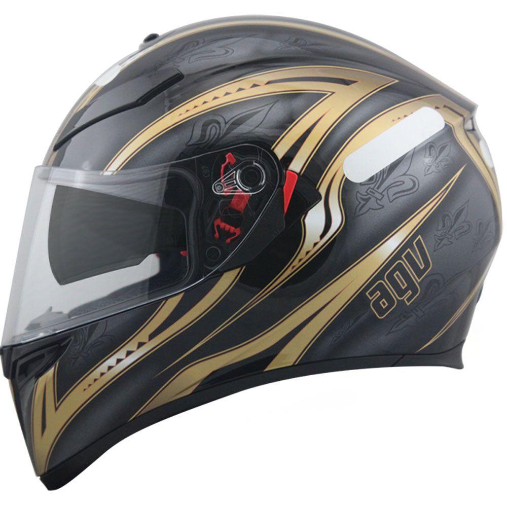 90eb883f8 Capacete AGV K3 SV Florence Preto Gold - MotoBR | Capacetes ...