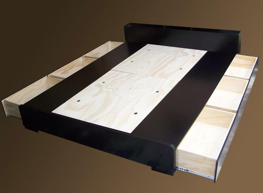 base cama gamma 2 recamara minimalista cajones colchon