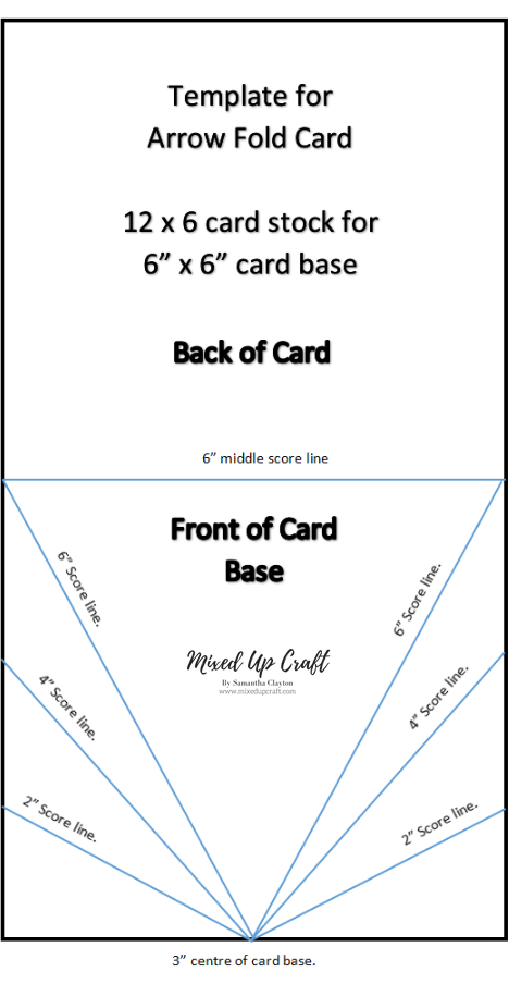 Arrow Fold Card Fancy Fold Card Tutorials Card Making Templates Card Sketches Templates