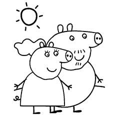 Peppa Pig Coloring Pages Grandpa Pig Pictures