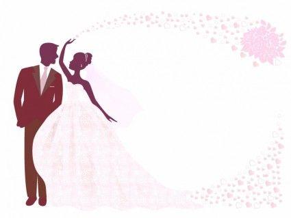 Pin By Abdulkader Bin Zeyad On Svadba Zhenih I Nevesta Bride And Groom Silhouette Wedding Cards Images Wedding Illustration