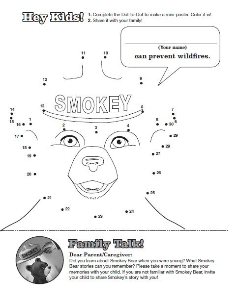 Smokey The Bear Bear Coloring Pages