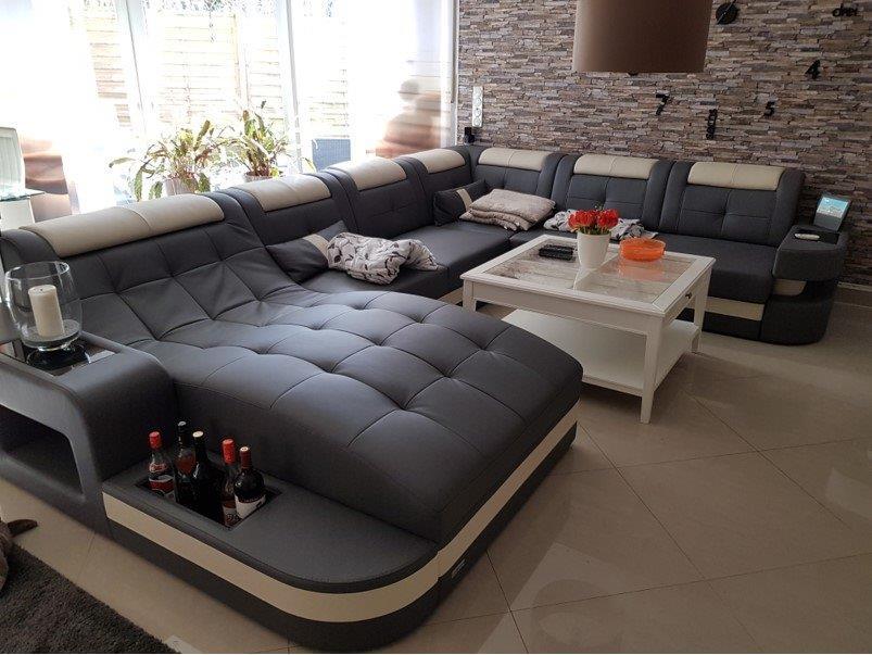 Leder Wohnlandschaft Wave U In 2020 Living Room Sofa Design