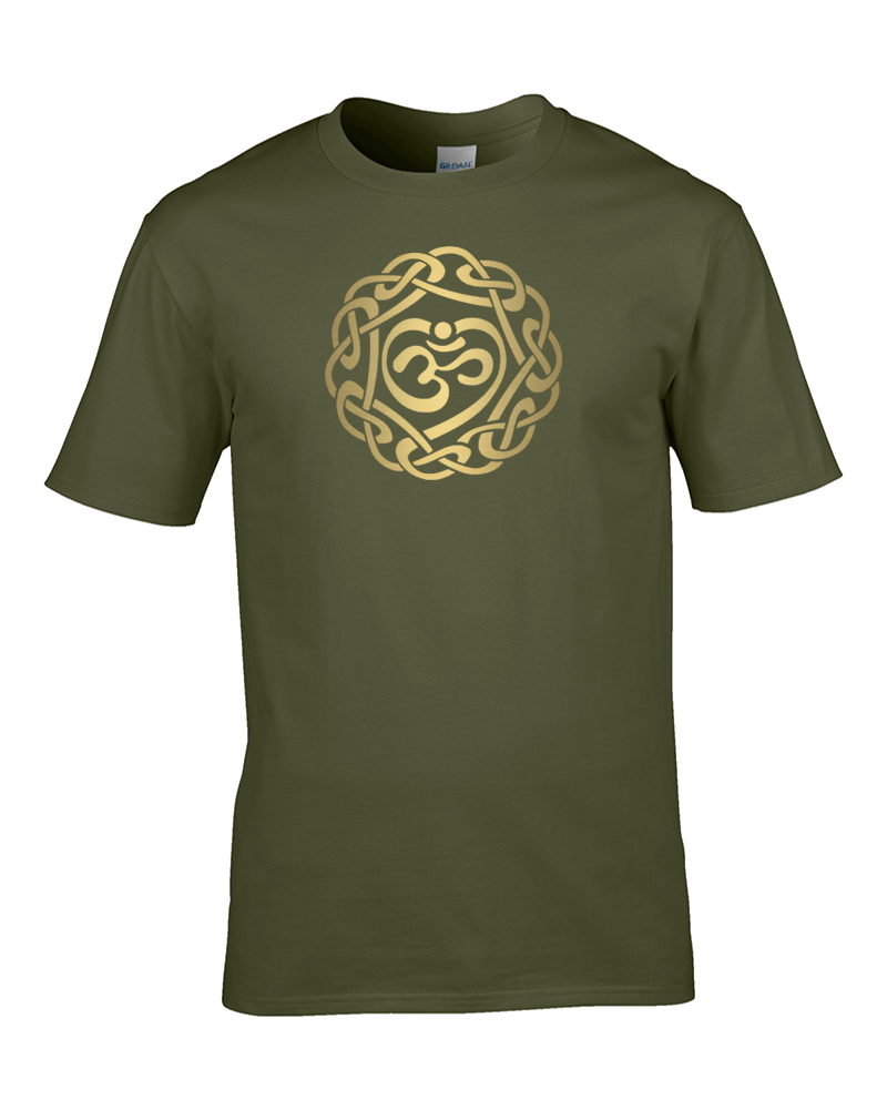 awesome OM SPIRITUAL SYMBOL- Sanskrit Men's T-shirt from FatCuckoo