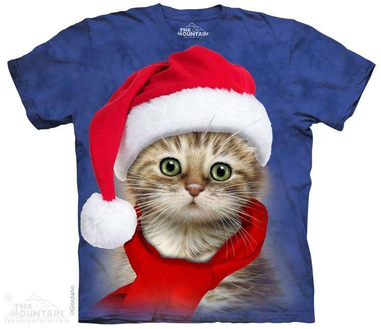 The Mountain - Santa Cat Blue T-Shirt, $20.00 (http://shop.themountain.me/santa-cat-blue-t-shirt/)