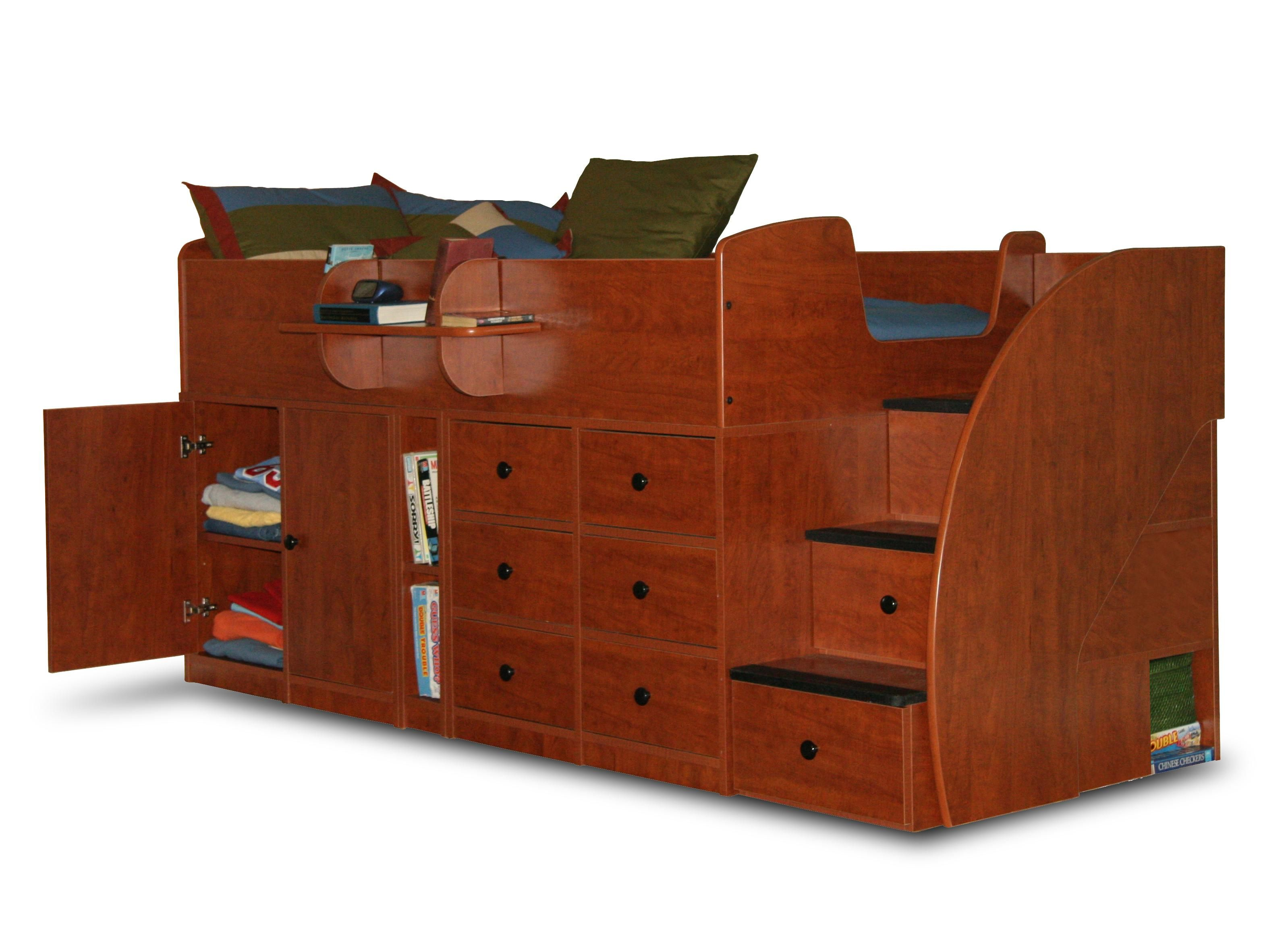Best Captain S Bed Twin With Drawers Cabinet 3 Stairs Twin 640 x 480