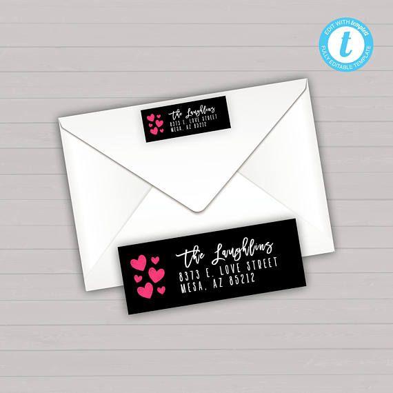Return Address Label Editable Addresss Label Instant
