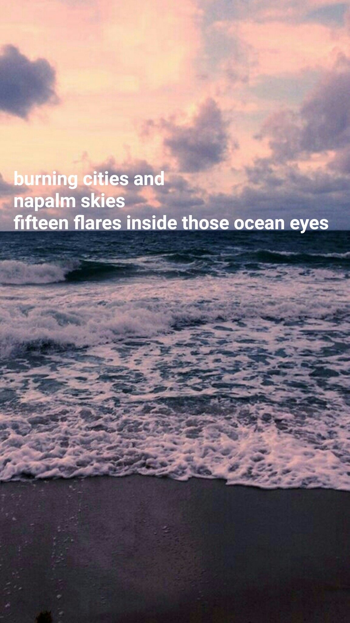 Billie Eilish Ocean Eyes Lyrics Wallpaper Aesthetic Iphone Android Billie Eilish Ocean Eyes Ocean Blue Eyes Ocean Eyes Lyrics