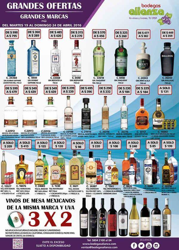 Bodegas Alianza Promociones De Vinos Y Licores Descuentos En