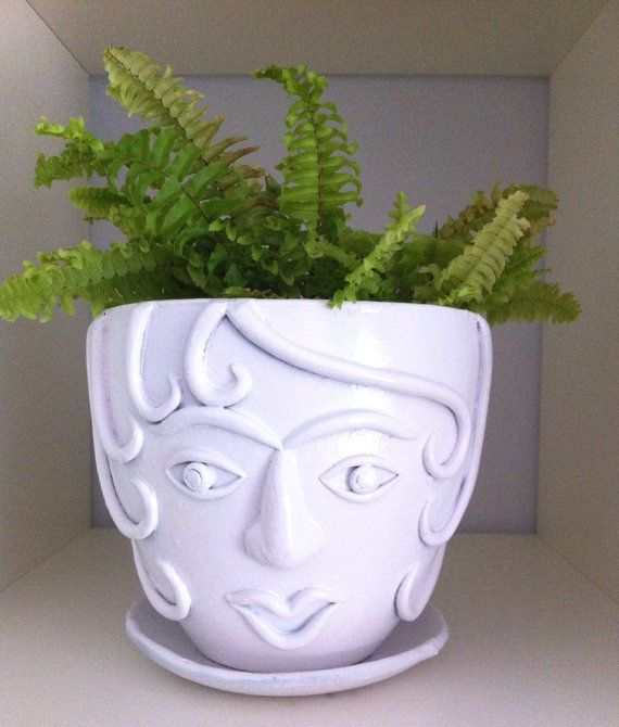 Curly Girl Face Planter by laylaloustudio on Etsy, $49.00