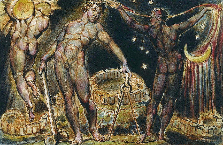 Lucifer The Light Bearer Tableaux De William Blake William Dacey