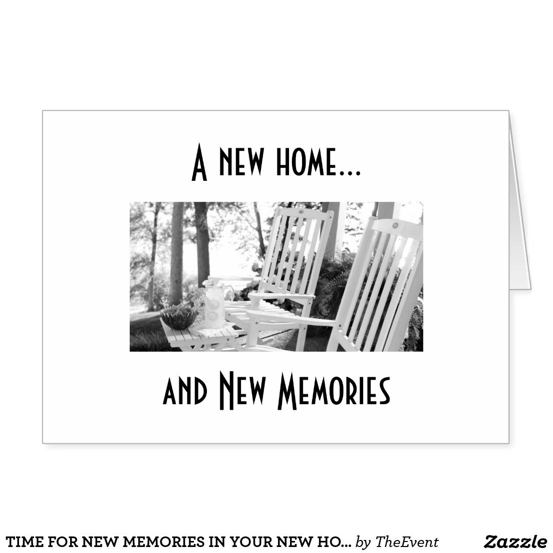 Time For New Memories In Your New Home Card Awesome Crafts