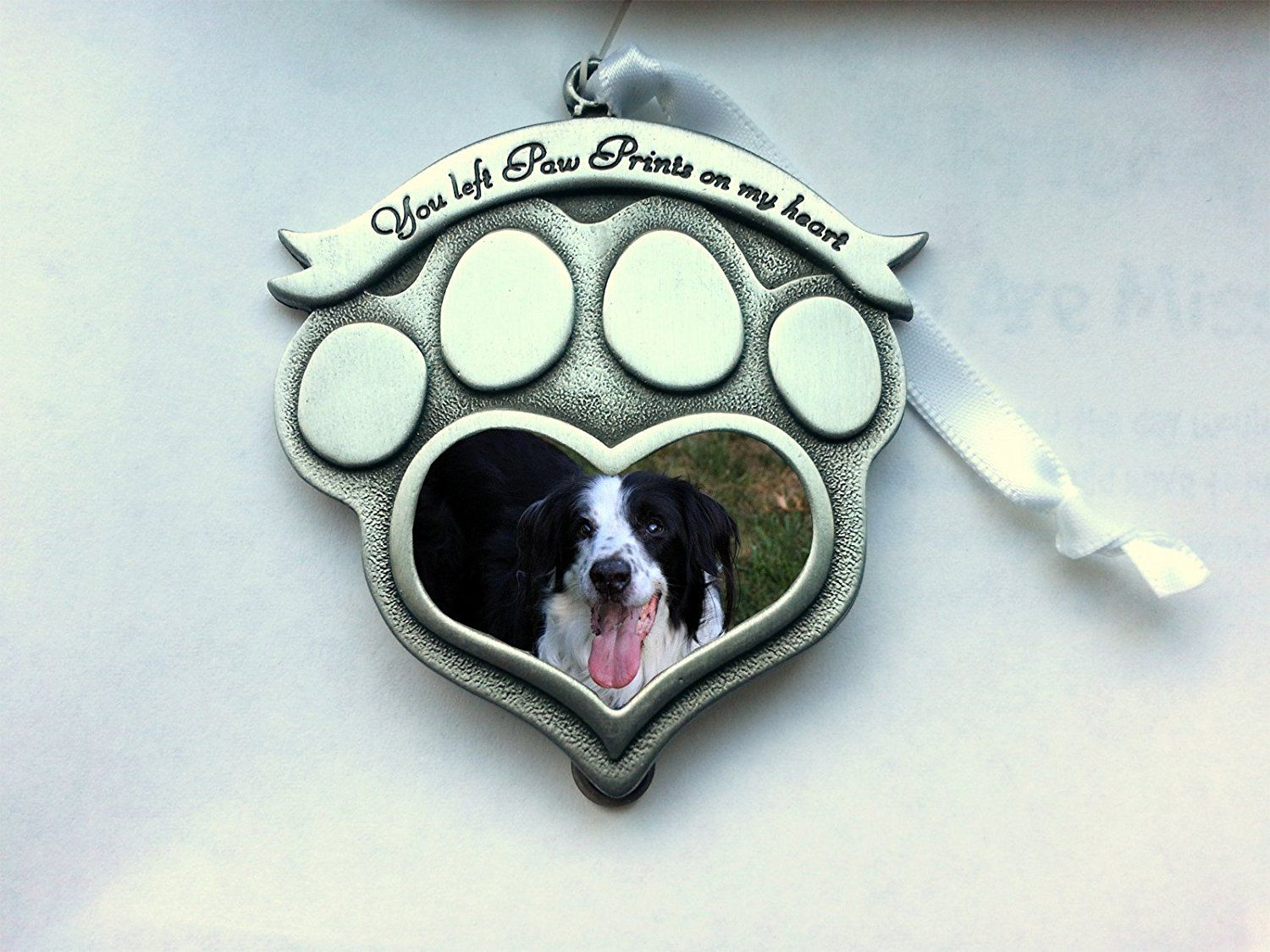 Pet Memorial Photo Frame Ornament You Left Paw Prints on
