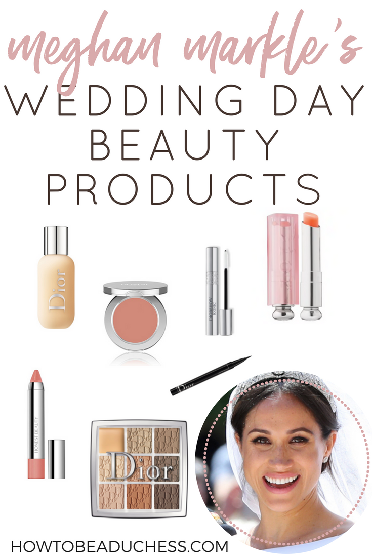 meghan markle's wedding day beauty products | wedding day