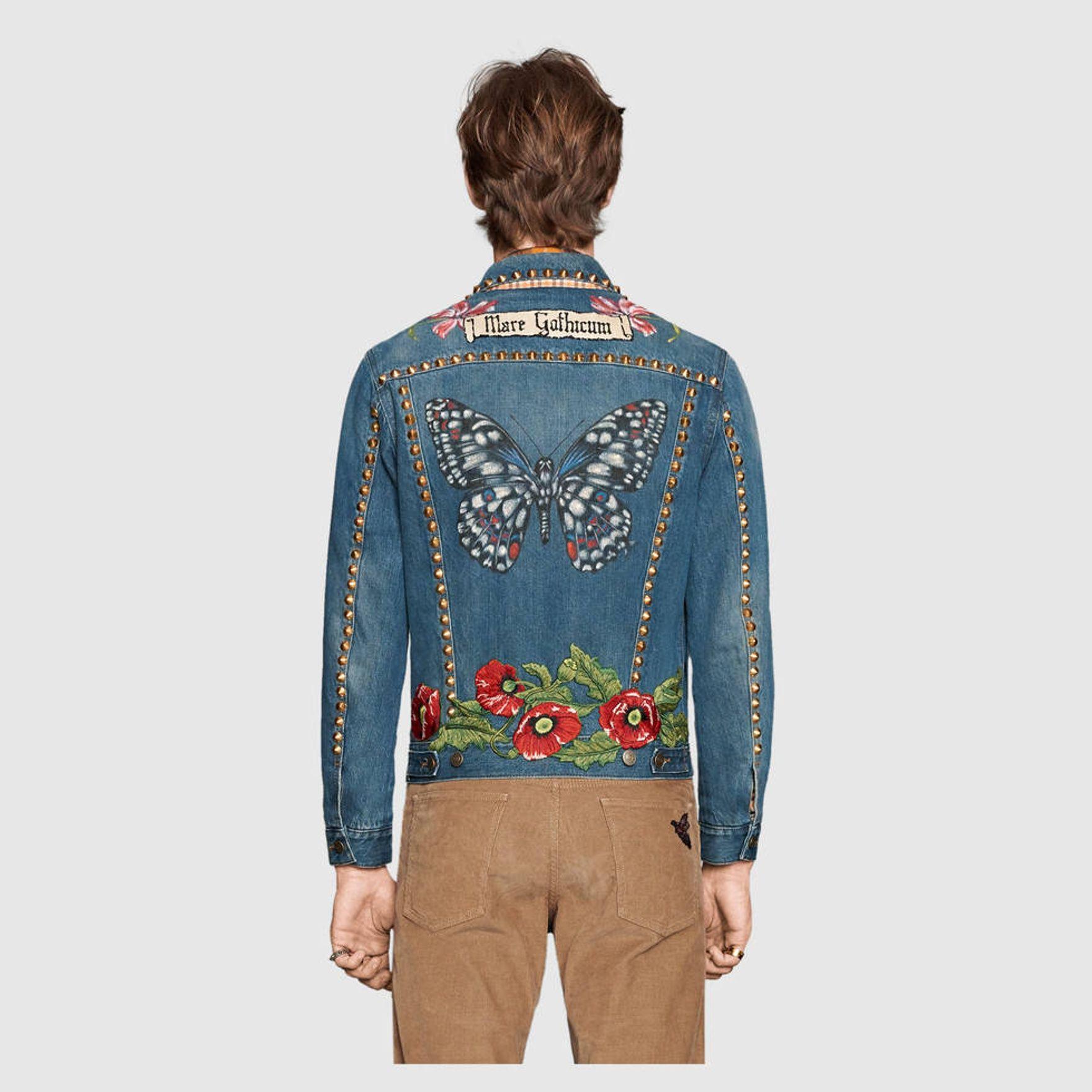 3bed122f Gucci Mare Gothicum denim jacket size 46 Size US S / EU 44-46 / 1 ...