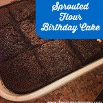 Easy Sprouted Flour Birthday Cake