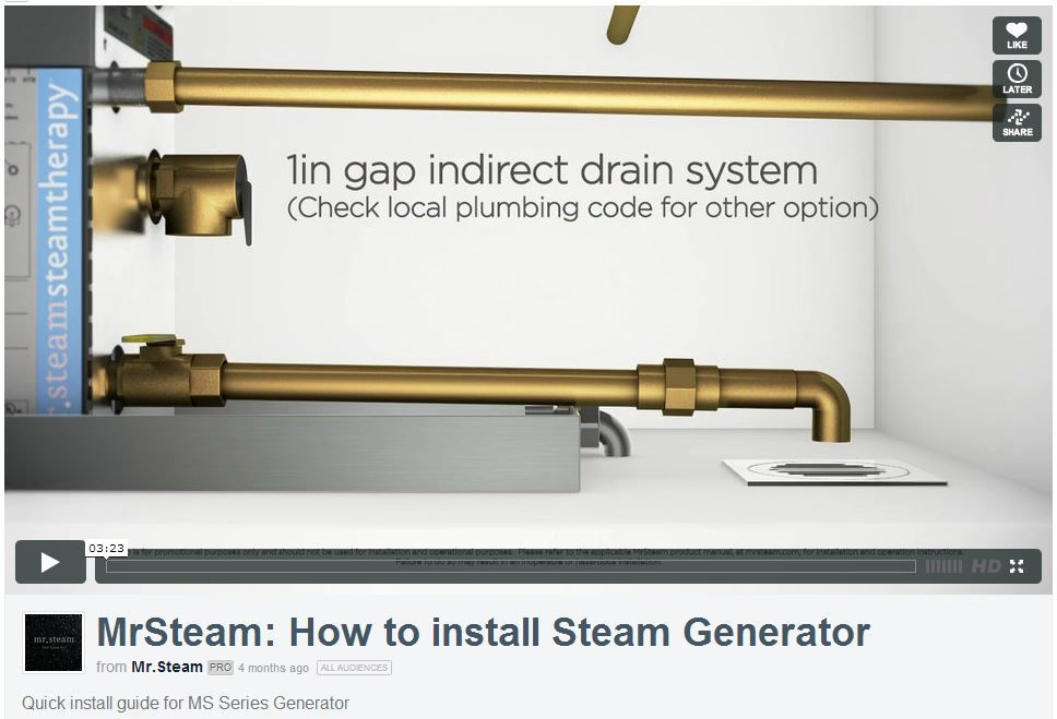 How To Install A Steam Generator 3 Minute Video From Mrsteam