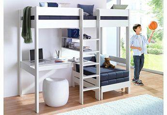 Hoogslaper all in bed bureau kast knuffelhoek trap in midden