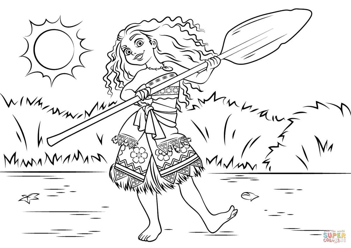 Princess Moana Waialiki Disney Coloring Pages Printable And Book To Print For Free Find More Online Kids Adults Of