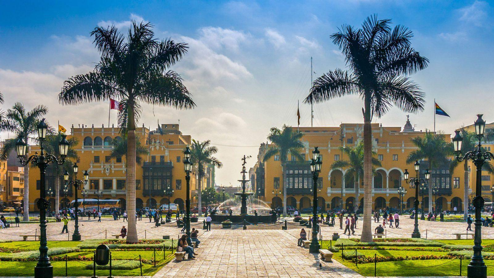 Peru Capital City Lima Colonial 1600x900
