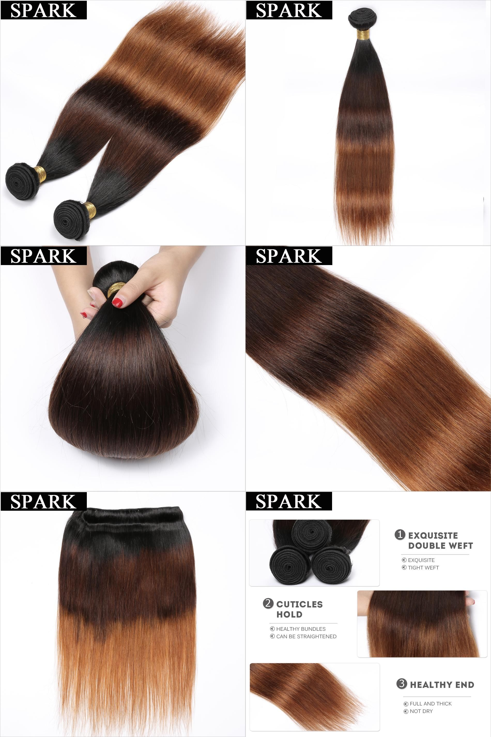 Visit To Buy Spark Ombre Brazilian Straight Hair 1pc 3 Color 1b 4