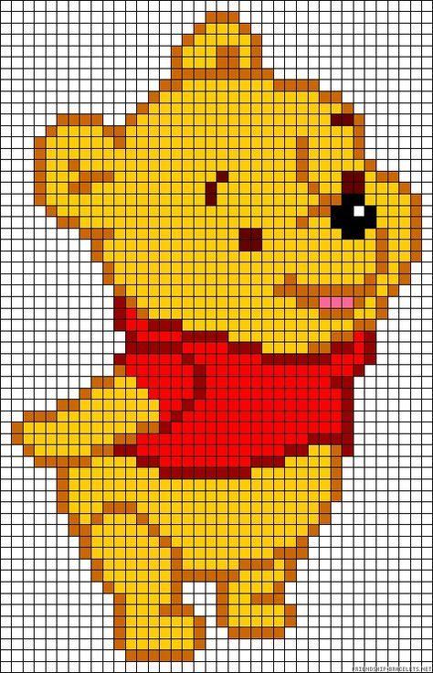Winnie the pooh knitting or crochet chart   My Melody   Pinterest