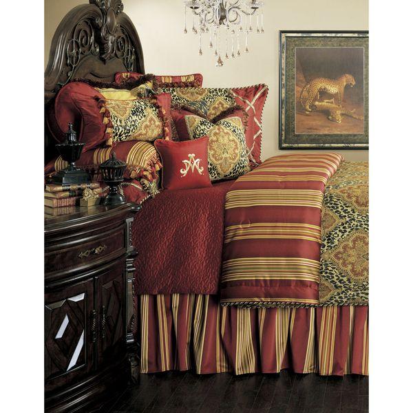 4 Piece Michael Amini Eden S Paradise Poster Bedroom Set: Michael Amini Nobel Philippe 13-piece Comforter Set