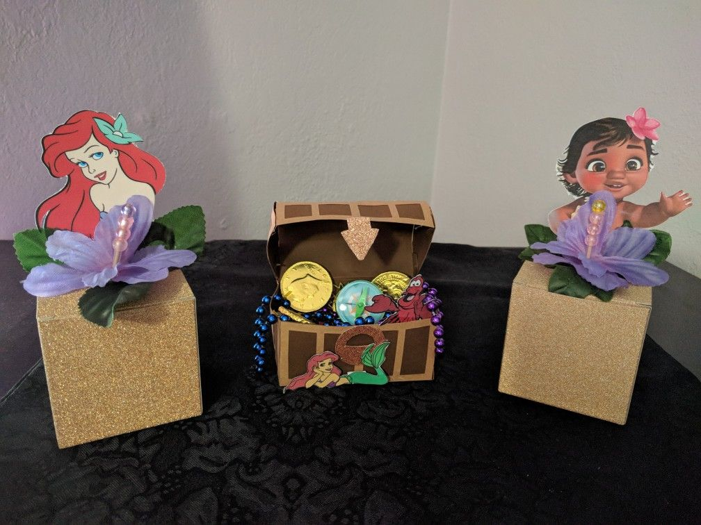 Moana And Little Mermaid 1st Birthday Party Favors 1st Birthday Party Favors Little Mermaid Birthday Mermaid Birthday Party Decorations