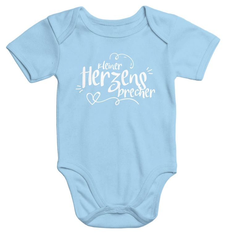 süßer Baby Body mit Aufdruck kleiner Herzensbrecher Bio ...