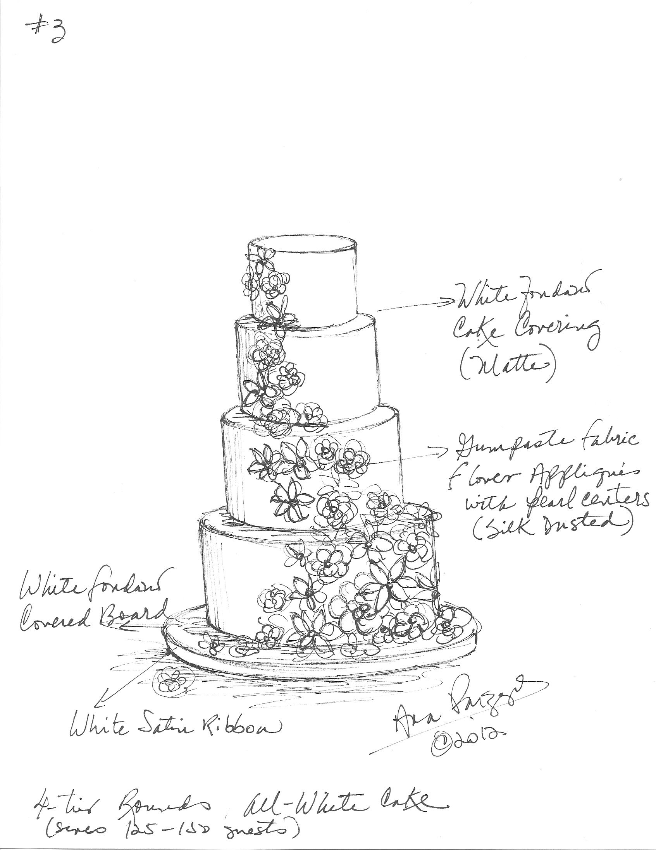 Custom Wedding Cake Sketch Cake Sketch Cake Drawing Cake Illustration
