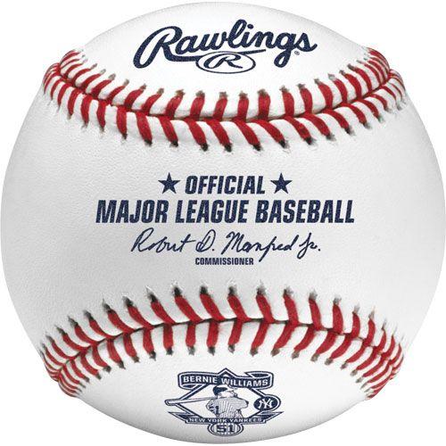 Rawlings: Official New York Yankees' Bernie Williams #51 Retirement On-Field Baseball.